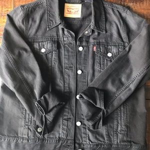 Levi's Black Washed Denim Jacket